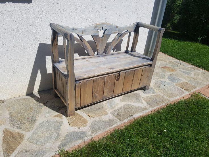 Blue oli +burn wood =new bench