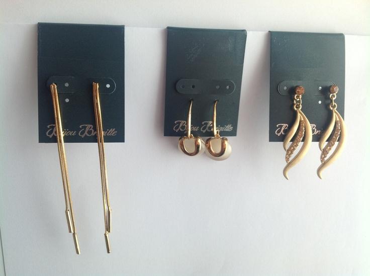 Vendo un pack con 3 pendientes de bijou brigitte con tonos en oro est n pr cticamente nuevos Bijoux brigitte catalogue