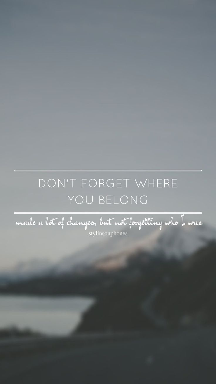 Don't Forget Where You Belong // One Direction // ctto: @stylinsonphones (on Twitter)