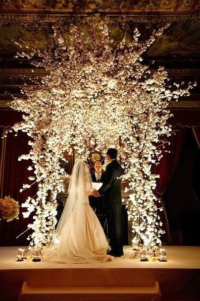 Wowgetting married at night would be so pretty and different