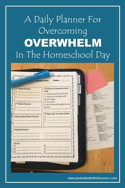 Download this free daily planner to help your children overcome the OVERWHELM in their homeschool day.