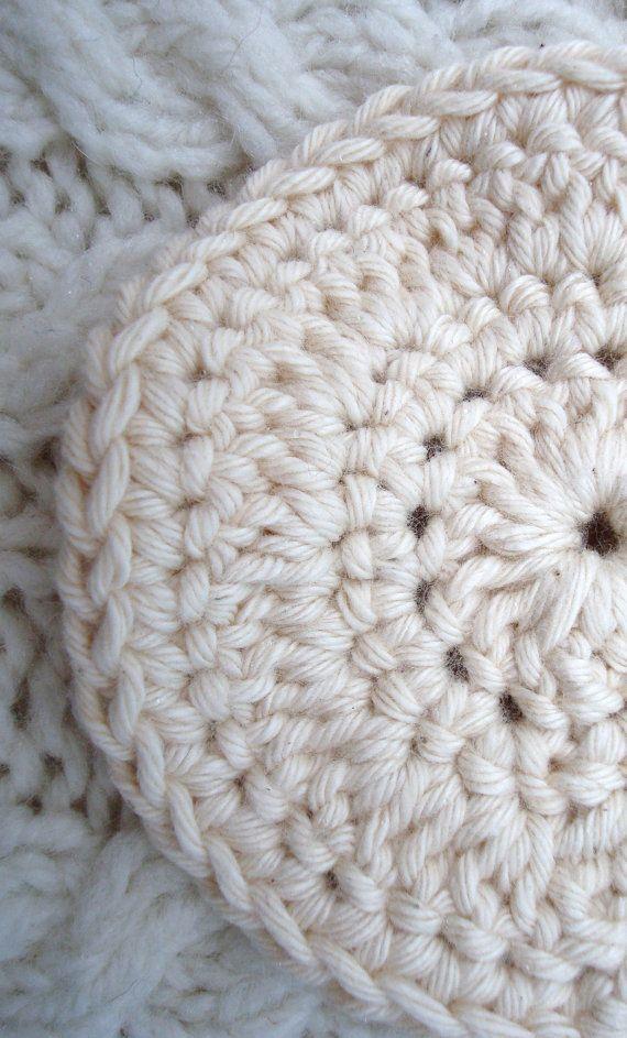 Facial Cleansing Pads CREAM Soft Cotton  set of four. $5.00, via Etsy.