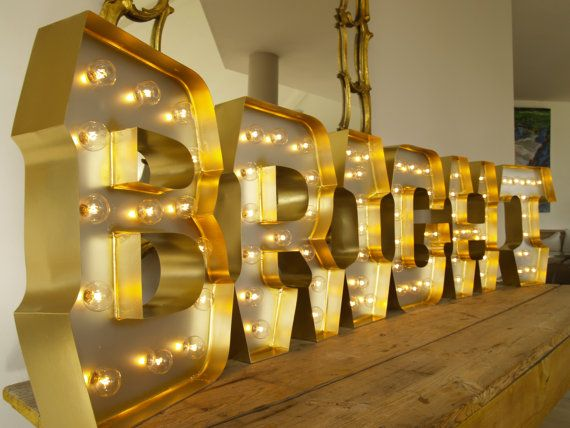 Bright for christmas holiday in light up letters with for Hollywood light up letters