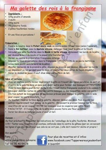 Dessert - Galette des rois à la frangipane - Tupperware
