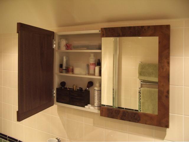 2-door semi recessed cabinet. Wood Medicine ... & 16 best Medicine Cabinet Ideas images on Pinterest | Cabinet ideas ...