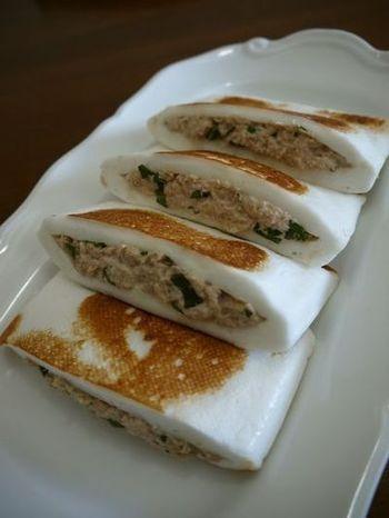 ツナ缶とシソの葉があれば、すぐできます。シソの香りがアクセントでお弁当のおかずにしても美味しくいただけます。