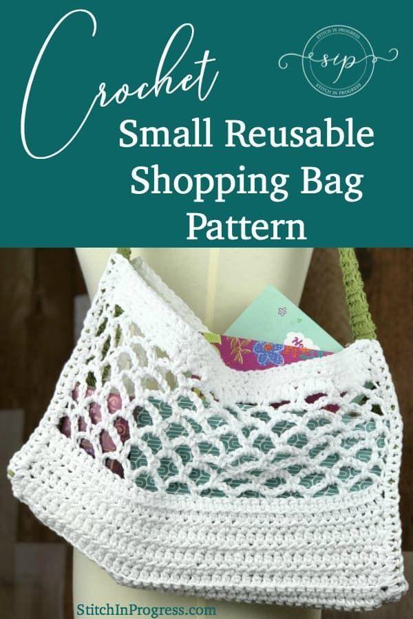 Crochet Reusable Shopping Bag Pattern | Crochet Patterns & Tutorials ...