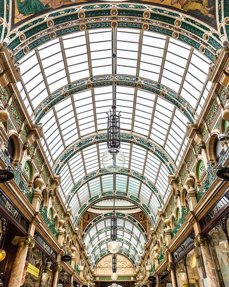 Gorgeous ceiling on a Victorian shopping arcade in Leeds, Yorkshire, England   #shopping #architecture #leeds #yorkshire #england #uk