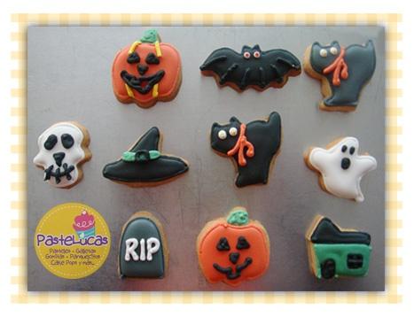 Galletas Halloween: ricas galletas de mantequilla decoradas con royal icing