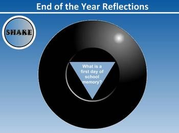End of the Year Smartboard activity with 8 ball