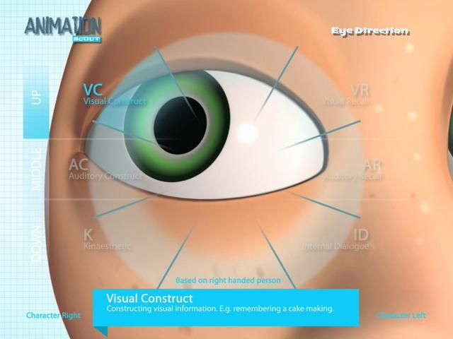 AnimationScout - Eye Direction by Ugur Ulvi Yetiskin. I had some eye direction documentaries but all of them are seperated and that has not clear understanding format. So i collect them and visualize as clear and easily-remembered style as i can for you and me ;)