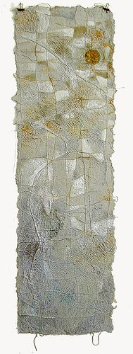 """white night     Irina Yablotchkina    handmade paper"" Not really art on paper - more paper as art"