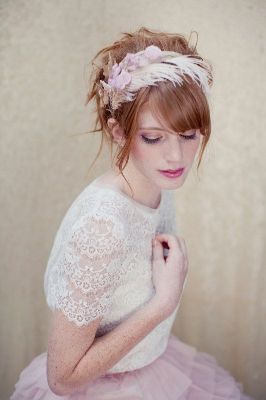 feather headband~ made by: Lo Boheme <3. gorgeous.