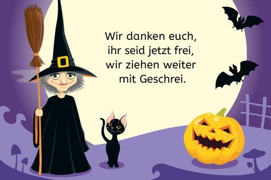 Halloween Spruch: Wir Danken Euch