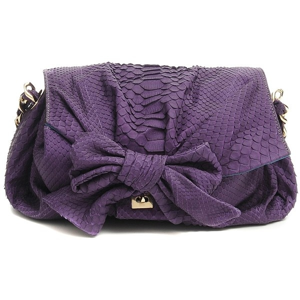 Zagliani Small metalic python bag (€3.065) found on Polyvore