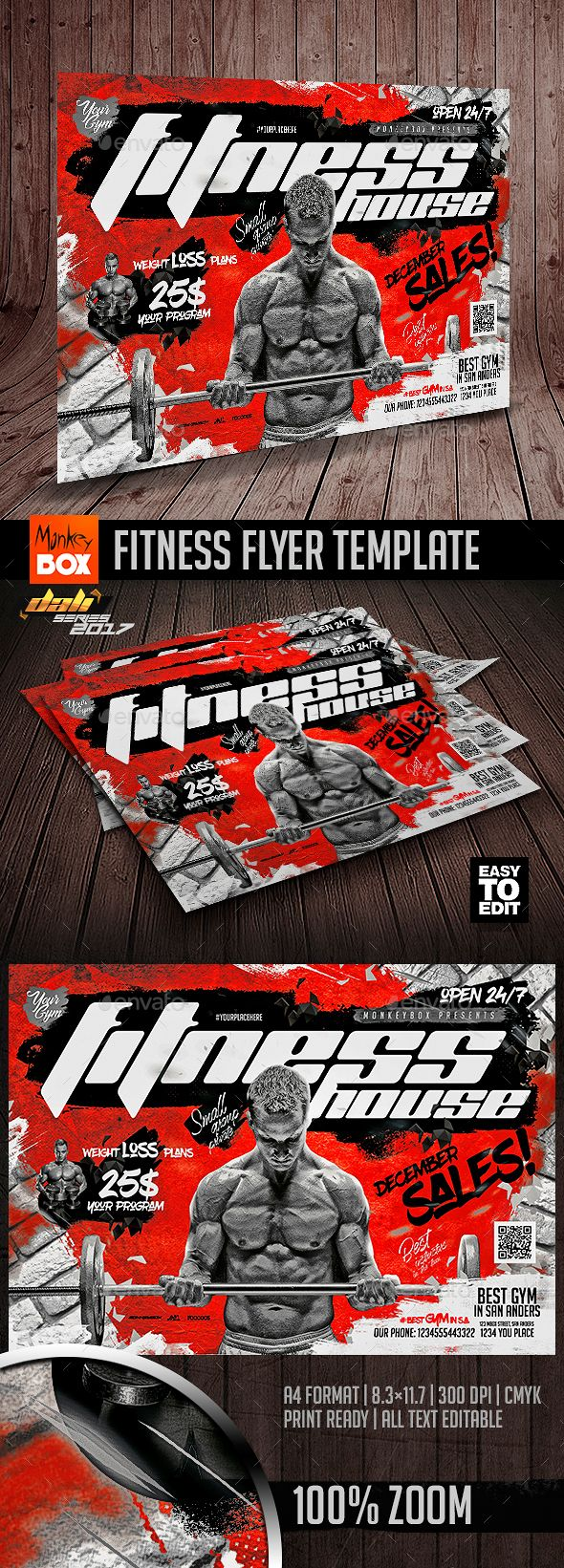 Fitness Flyer Template - Flyers Print Templates