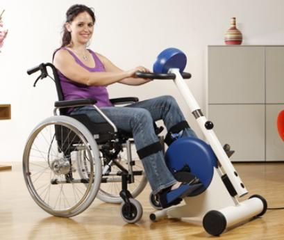 wheelchair sitting exercise bike see it believe it do