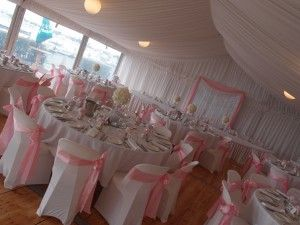 Marquee wedding venue on the goldcoast! Visit our website for venue info! Www.allaboutvenues.com.au. This is our pink wedding theme with kissing ball wedding centrepieces! We would love to decorate your wedding!