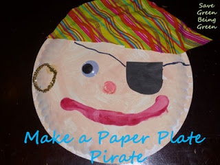 Pirate Paper Plate Craft for Preschool Kids and Kindergarten