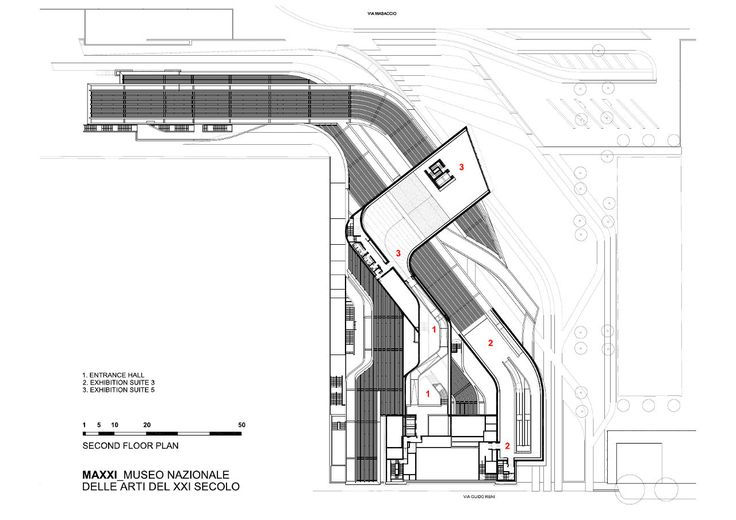 Zaha Hadid's MAXXI   Credit: Zaha Hadid Architects