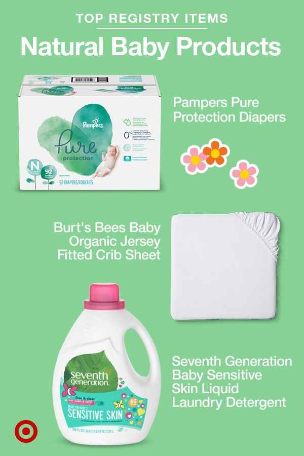 Top Registry Items For Natural Baby Products Opt For Baby Products Made With Natural Ingredients And Organic Materials Natural Baby Reusable Diapers Free Baby Stuff
