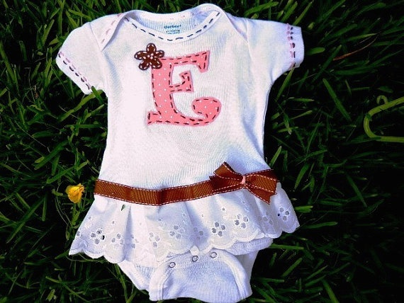 Baby girl onsie  I wanna do this for Lainey's 18 mo pics