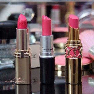 L'Oreal Wistera Rose, MAC Chatterbox, YSL Opera Rose - Instagram