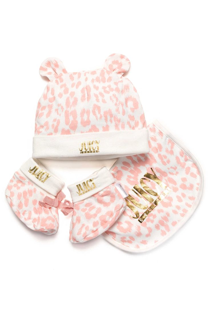 Giftset Baby Bib, Bootie & Hat SUGARED ICING - Juicy Couture - Designers - Raglady