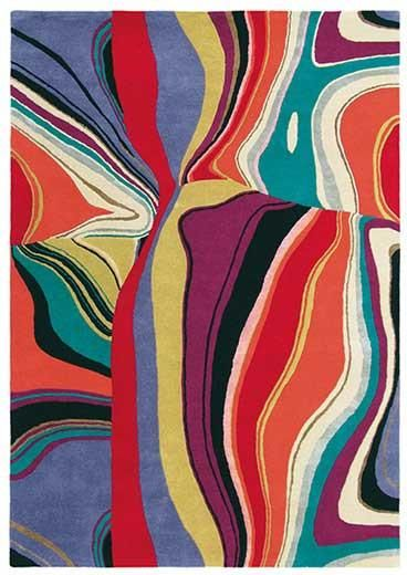 Liven up your living space with the colourful and stylish Brink & Campman Estella Curve 83800 Designer Wool Rug