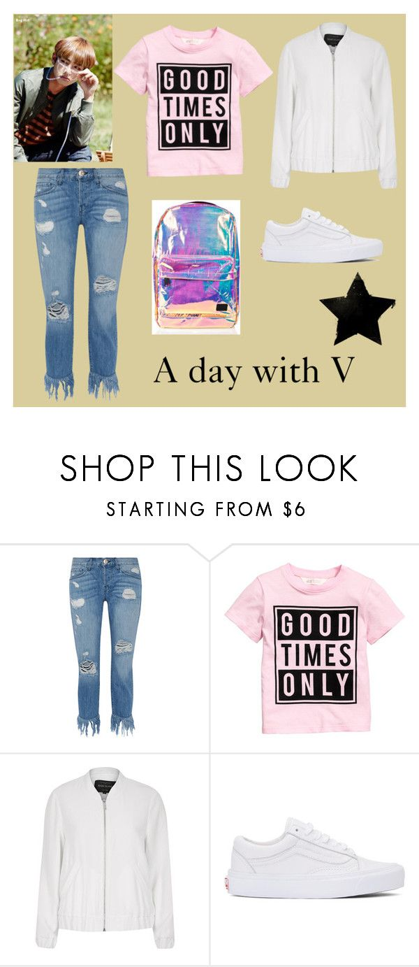 """A day with V"" by frencyl on Polyvore featuring moda, GUESS, 3x1, River Island, Vans e Spiral"