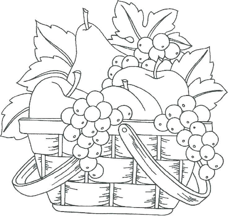 Fruit Bowl Coloring Page At