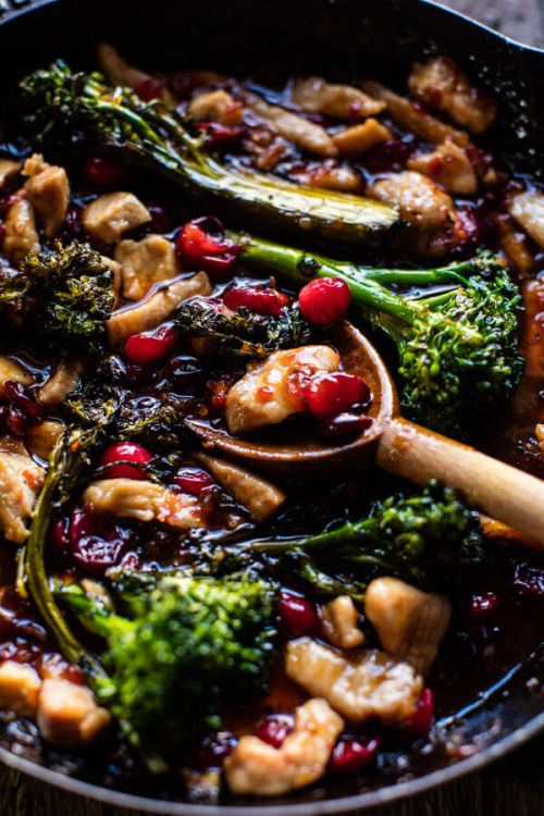 20 Minute Cranberry Orange Stir Fry | Source