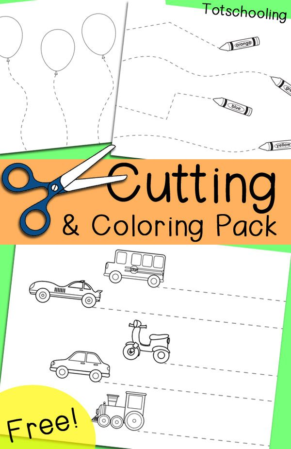 free cutting coloring and tracing pack for preschool and kindergarten to practice scissor skills and - Color Activity For Kindergarten