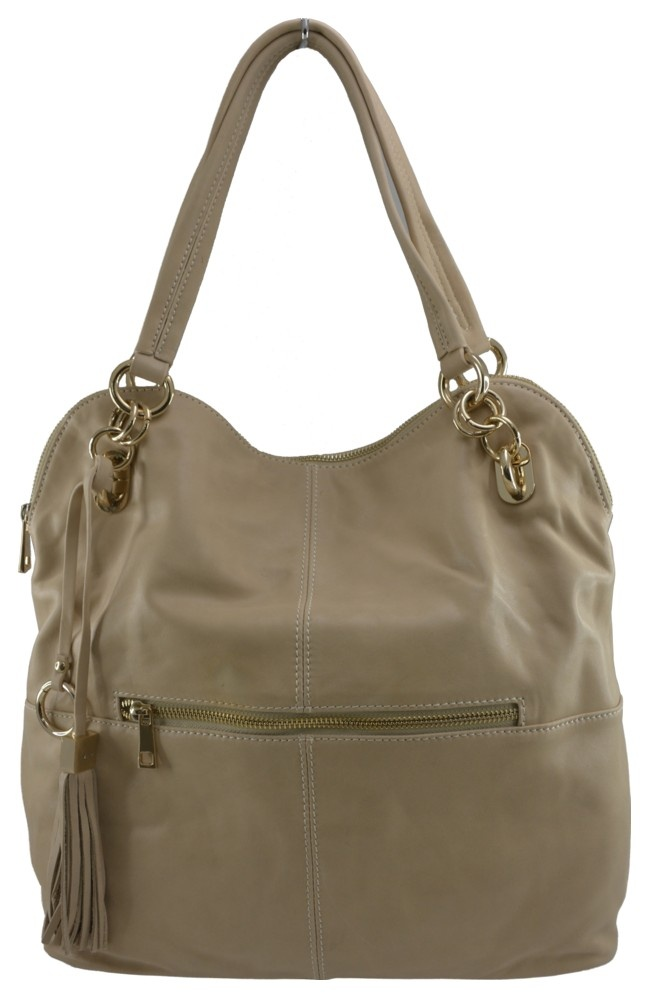 Manhattan Leather Slouch Tote in Beige - $249.00   Check it out at: http://www.bagaholics.com.au/leather-bags-c6/manhattan-leather-slouch-tote-in-beige-p590/