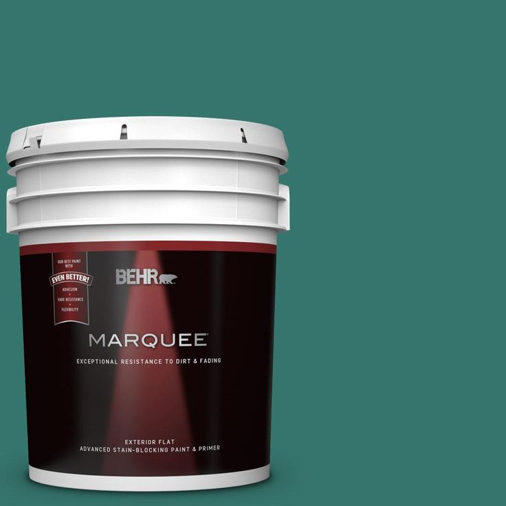 Behr Marquee 5 Gal 490d 7 Greensleeves Flat Exterior Paint And Primer In One Behr Marquee Exterior Paint Behr Marquee Paint