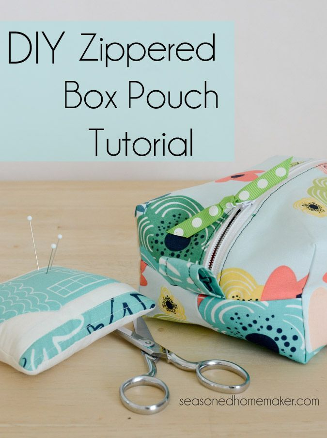 143 best zip it images on pinterest sewing tutorials sewing diy zippered box pouch tutorial solutioingenieria Gallery