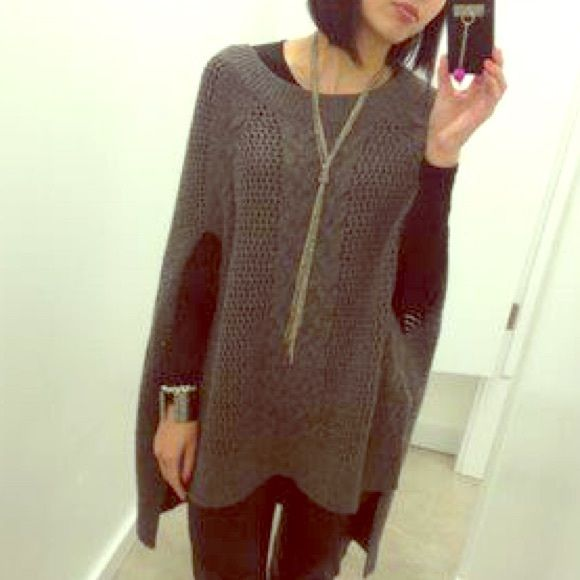 Sweater Cape Cable knit sweater cape. Light pilling from wear. All Saints Sweaters