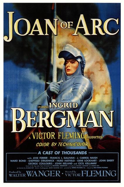Ingrid Bergman in 1948's retelling of Joan of Arc.