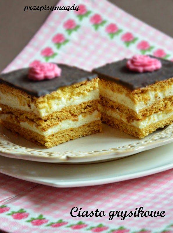 Przepisy Magdy: Ciasto grysikowe