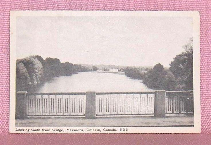 Looking South From Bridge Marmora Ontario Postcard