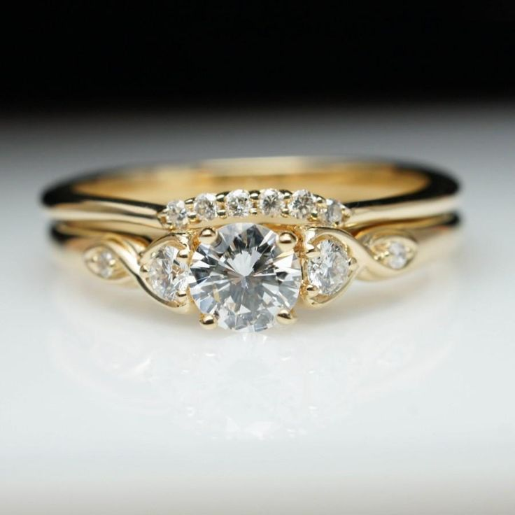 Vintage Antique Style Diamond Engagement Ring
