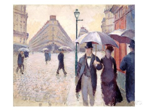 Sketch for 'Paris Street; Rainy Day', 1877 Giclee Print by Gustave ...