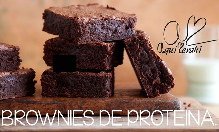 Receta de brownies de proteína I Saludables❣
