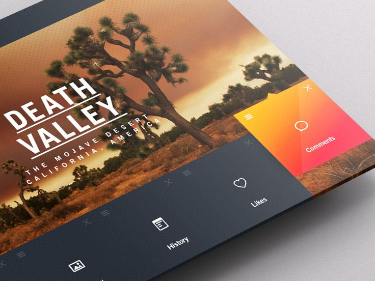 Location 5 The Mojave Desert, California, America DEATH VALLEY  Development on a self initiated project for a dashboard for the world's weather. I wanted to bring abit of personality to the locatio...