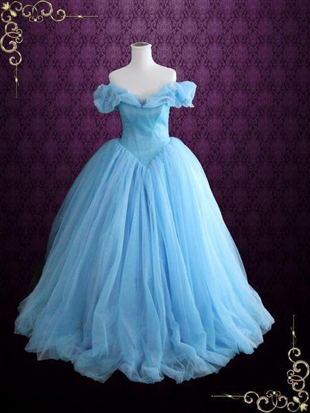Cinderella Blue Ball Gown Evening Dress | Cinderella