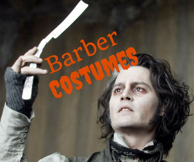 """If you wanna be one IRL, or already have your barbers license, this could be the perfect costume idea for you. Read our """"Five Fictional Barbers You Can Be for Halloween"""" for easy ideas to be a barber this year! Go to http://www.taylorandrew.com/2016/10/five-fictional-barbers-you-can-be-for-halloween/ ~ #TABarbering"""