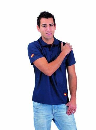 Polo Técnico Bandera de España. Colores seleción española de fútbol. Dimensiones: 3,3x20,3x3,3 cm   Colores disponibles:azul y blanco [4,77 €]
