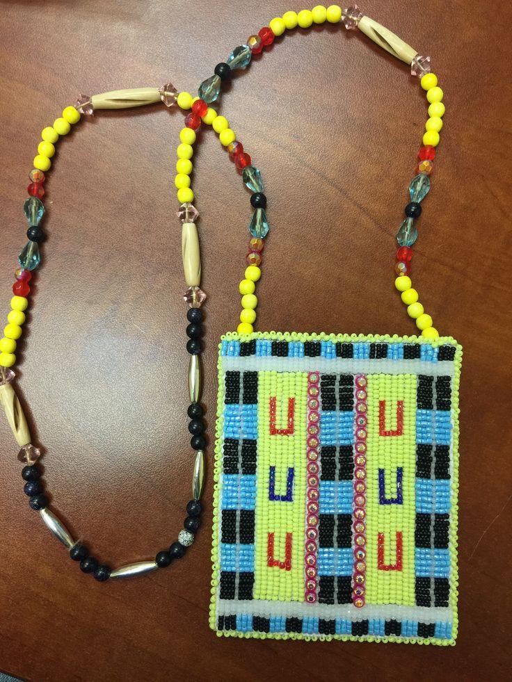 Native american beaded rosettes strips headbands pity