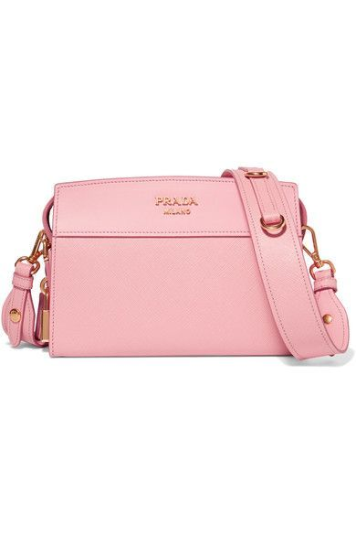 Prada - Esplanade Smooth And Textured-leather Shoulder Bag - Pink - one size
