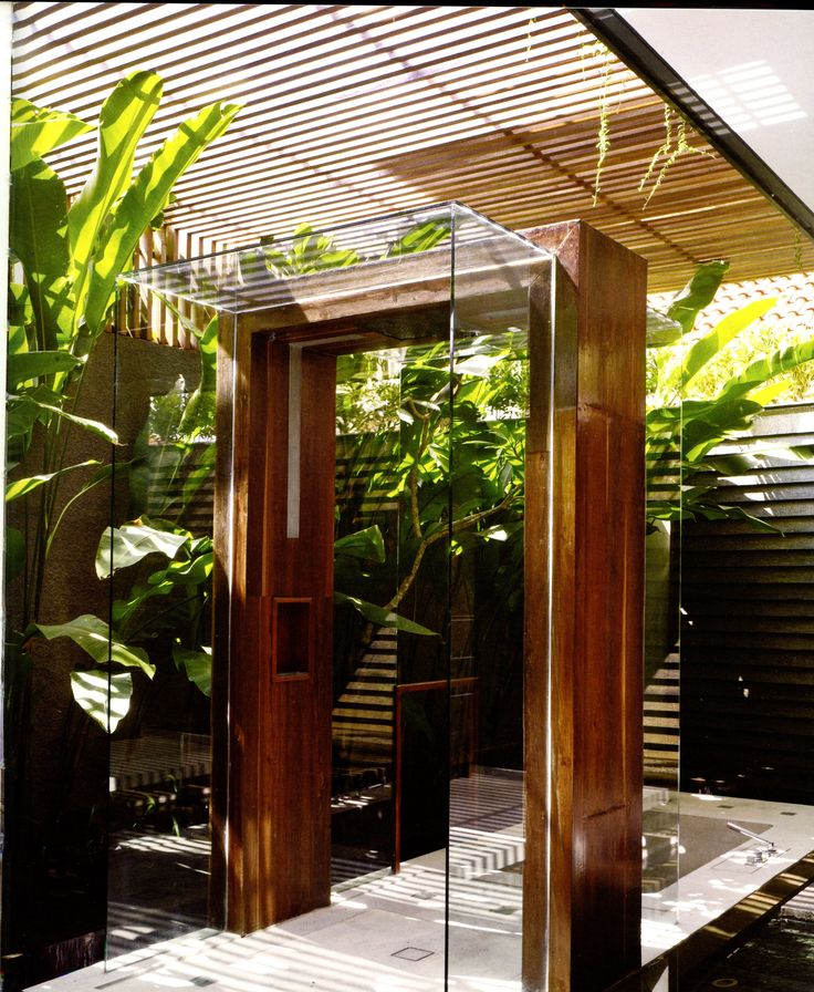 "bathroom from ""Bali Living: Innovative Tropical Design,"" by Gianni Francione"